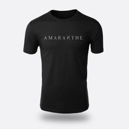 a86f5b55 Amaranthe Men's T-shirt Color Black printing short sleeve men T shirt  o-neck 100% cotton casual Cotton Fashion Top Tee Chinese Style