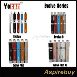 Wholesale Multi C - Original Yocan Evolve Series Evol C Set Evolve Plus Kit Evolve Plus XL Kit Wax Dry Herb Pen Vaporizer with 650 1100mAh Battery 100% Original