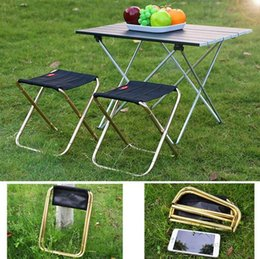 sgabello da viaggio portatile Sconti Outdoor portatile pieghevole sedia da campeggio ultraleggero 7075 in lega di alluminio sedie da picnic sgabello da barbecue pieghevole sedia da pesca da viaggio con borsa US6825