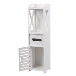 2019 support de stockage en métal Salle de bains plancher armoire organisateur stockage blanc plancher armoire moderne mur obturateur porte salle de bains organisateur plateau maison livraison gratuite VB