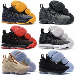 Wholesale Black Mesh Stockings - Epacket Newest Men James 15 Basketball Shoes fish scale stripes Athletic damping basketball Sports Shoes stock in Sneakers shoes 40-46