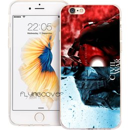 Wholesale Iphone 5s Captain America Case - Captain America Civil War Clear Soft TPU Silicone Phone Cover for iPhone X 7 8 Plus 5S 5 SE 6 6S Plus 5C 4S 4 iPod Touch 6 5 Cases.