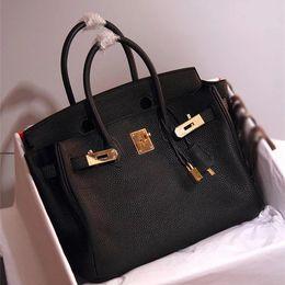 Wholesale orange tone - togo leather Vintage Handbags Women bags brand Designer 30cm  35cm 40cm Handbags decorative Genuine Leather Bag Crossbody and Shoulder Bags