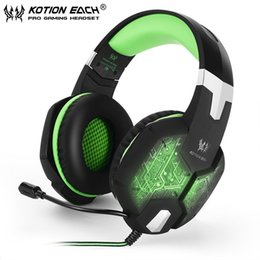 Micrófono para gamers online-Nuevo CADA G1000 Deep Bass Gaming Auriculares estéreo Surround Over Ear Headset 3.5mm + Auriculares USB con micrófono Luz LED para PC Gamer