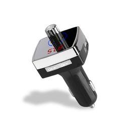 Neue bluetooth freisprecheinrichtung mp3 online-Neue Freisprecheinrichtung Bluetooth Wireless FM Transmitter Auto Audio Player MP3-Player LCD-Bildschirm Unterstützung Micro SD-Karte / USB-Festplatte