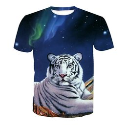 Wholesale Custom Wolf - Wholesale Free Shipping Custom Design Men Women Wolf Lion Tiger Animal 3d Heat Press Printing Summer Tops Tee Shirt Big Size 6XL