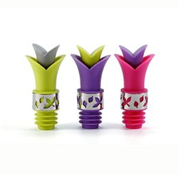 Wholesale Protection Bar - Hot sell lily Wine Bottle Stoppers Environmental Protection Silicone Food Grade Durable Wine pourer Bar Tools