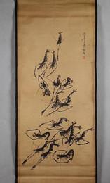 piedras decorativas para paisajismo. Rebajas Venta al por mayor de Zhongtang, sala de estar, paisaje de pintura, pintura decorativa, pintura china antigua, camarón de piedra Qibai, ya instalado