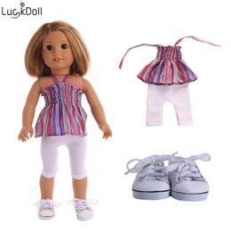 Luckdoll elegante nuevo traje de muñeca encaja 18 pulgadas American girl  dolls o 43 centímetros bebé ZAPF doll accessories e227ee8ae75