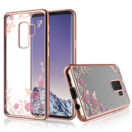 Wholesale secret case iphone - Luxury Diamond Secret Garden Flower Clear Plating Frame Soft TPU Case For iPhone X 8 7 6 6S Samsung S6 S7 Edge S8 S9 Plus Note 3 4 5 8 Note8