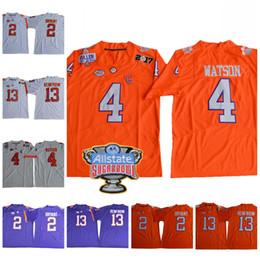 Wholesale Kelly Manning - NCAA ACC Clemson Tigers Steve Fuller 4 DeShaun Watson 2 Kelly Bryant 13 Hunter Renfrow College Football 2018 Sugar Bow Jerseys