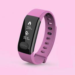 calendari cuore Sconti Sport IP67 impermeabile tocco Scree braccialetti Heart Rate Calendar Bracciale intelligente per Andriod