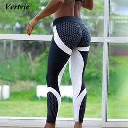 962dcd3d4fb67 Vertvie 2018 Honeycomb Printed Yoga Pants Women Push Up Professional Running  Fitness Gym Sport Leggings Tights Elastic Trousers