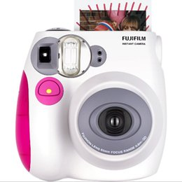 Wholesale Fuji Instax Mini 7s - Genuine Fuji Fujifilm Instax Mini 7S Camera Instant Printing Film Snapshot Shooting Photo Pink Blue Camera