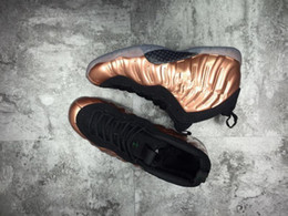 Wholesale Penny Size - Penny Hardaway One Copper Men's Basketball Shoes Bronze Gold Pro Galaxry One 1s Fashion Sports Training Sneakers Size US 7-13