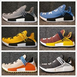 Wholesale Cheap Shoe Laces Free Shipping - 2018 NMD HumanRace Running Shoes Men Women Boost Cheap Human Race New High Quality Free Shipping Size 5-12.5 With Box