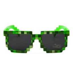 Pixel sonnenbrille online-Kinder Brille neue Brille 8 Bit Pixel Frauen Männer Sonnenbrille Weiblich Männlich Mosaik Sonnenbrille Kinder Jungen Mädchen Vintage