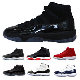 Wholesale gym m - Wholesale 11 Prom Night Gym Red Midnight Navy Black Stingray Bred Concord Space Jam Shoes 11s Mens Womens Kids Basketball Sneaker