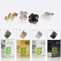 Wholesale Bucky Cubes - 4mm 216pcs Silver Magic Magnetic Bucky Cubes Square Bucky Ball Magnets Neocube Cubes Table Decompression Toy CCA8510 35pcs