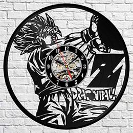Anime Dragon Ball Z Vinyl Orologio da parete Modern Home Decoration Crafts Personality Gift Clock (Dimensioni: 12 pollici, Colore: Nero) da orologi anime fornitori