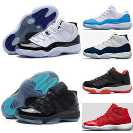 Wholesale B Threads - 2018 man basketball shoes 11 Gym Red Chicago Midnight Navy white Olympic Concord Gamma Blue Varsity Red Navy Gum Sport Sneaker