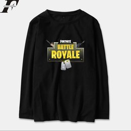 Wholesale Special Tees - LUCKYFRIDAYF 2018 Fortnite Spring Long Sleeve T-Shirt Men Women Winner Casual Game Special Printing Tshirt Tops Tees Plus Size