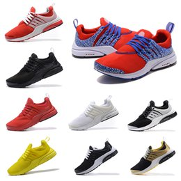 Wholesale Men Safari - high quality New Air Presto Gold Safari Running shoes Men Women blacke White Oreo Brutal Honey yellow red Sport sneakers Shoes us 7-12