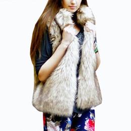 Wholesale wholesale furs coats - 2017 Fur Vest Winter Women Luxury Sleeveless Faux Fur Coats Furry Slim Fake Warm Jacket Ladies Shaggy Coat chaqueta pelo mujer