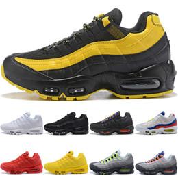 f0269381a6b90 Nike Air Max 95 Airmax 95 Hombres Mujeres Zapatos de correr Frecuencia  Triple Negro Blanco SE Amarillo ERDL Party OG Neon Grape Barato Hombres Run  Sport ...