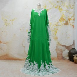 Moroccan Kaftan Dubai Evening Dresses Long Two Piece Chiffon Formal Party Dress  Gown Turkish Abiye gece elbisesi Beads Prom Dresses 0cf5e7bf6b38