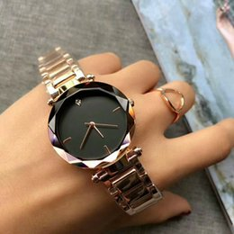 Wholesale top branded ladies watches - Hot New Fashion Casual Simple Business Ladies Watch Stainless Steel Strap Top Luxury Brand Women Quartz Clock Women's Watch Montres Femmes