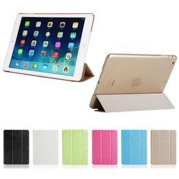 transparente farbe ipad mini Rabatt Wunderbare tpu silikon weichen smart leder case für apple ipad pro 10.5 air mini 4 3 2 1 abdeckung stehen case halter