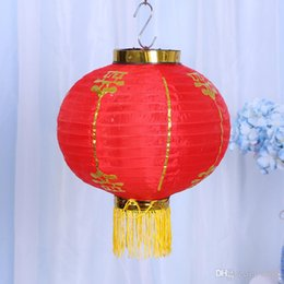 chinese lantern festival decorations Coupons - Pleasing Lanterns Chinese Traditional New Year Red Hang Giant Lantern Spring Festival Decoration Wedding Supplies Good Quality 9ht ii