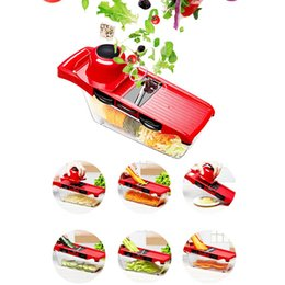 shredder box Coupons - Multi-fuction Kitchen Cutting Tools vegetables cutter with box Food Chopper Slicer Fruits peeler Salad machine 6 Styles shape good quality