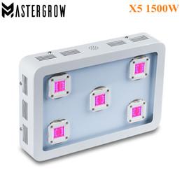 MasterGrow II 1500W X5 COB LED crezca el panel de la luz Espectro completo Rojo / azul / blanco / UV / IR 410-730nm para el crecimiento y la floración de la planta de interior desde fabricantes