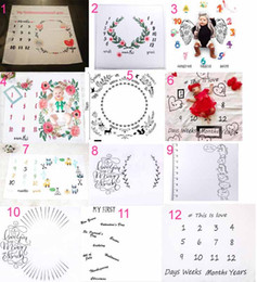 Wholesale baby photography clothing - 27 styles infant baby photography background commemoration blankets Photographic props Letters flower Animals Print Photographic clothes