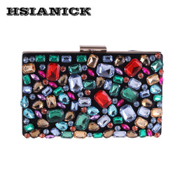 diamond clutch bag colorful Coupons - Female hot sell evening handbag colorful diamond design hand evening bag women's luxury party handbags small square bag clutch