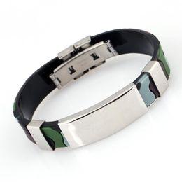 Wholesale charm brace - Contracted Camouflage Color Pattern Pendant Bracelets Hippop Wristbands Charm Brace Lace Handsome Gift For Women Men YY-PK2-124