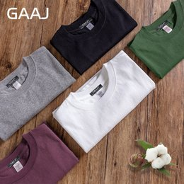 Wholesale Blank White T Shirts - 2017 T Shirt Men 100% USA Cotton Hip Hop Basic Blank T-shirt For Mens Fashion Tshirt Pink White Wine Green Purple Tee #GAB001