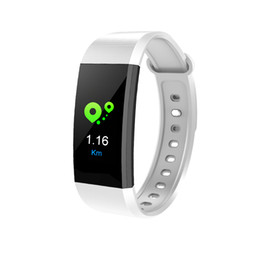 Wholesale oxygen white - I9 Smart Bracelet smart watch Heart Rate Monitor bluetooth blood pressure Health Fitness Smart Band for Android iOS activity tracker
