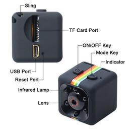 Wholesale Hidden Car Security Cameras - Hot selling Mini Camera SQ11 HD 1080P Camcorder HD Night Vision Hidden Camera Aerial Sports Mini DV Car DVR Home Security Recorder