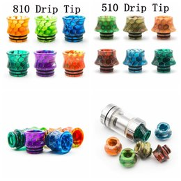 Wholesale Ego X - 810 & 510 Drip Tip Wide Bore Resin Drip Tips Mouthpiece For VAPE EGO ONE Vaporizer 1453 TFV8 Tank TFV8 baby TFV8 x baby TFV12 Hot Sale