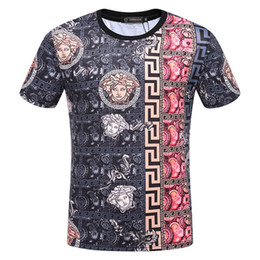 Wholesale tie dye shirts for men - fashion summer tie-dyed italy for men T-shirt Designer luxury Brand color flowers medusa print letter shirt Tee Casual Top tshirt