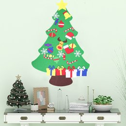 discount wall hanging christmas tree kids diy felt christmas tree with ornaments children christmas gifts