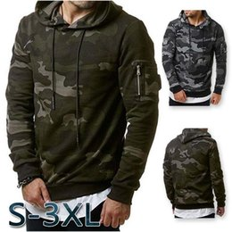 Wholesale Camouflage Winter Coats For Men - Size:S-3XL Men's Casual Cardigan Pure Military Camouflage Winter Jacket Sweatshirt Coat Outwear Hoodies For Sale