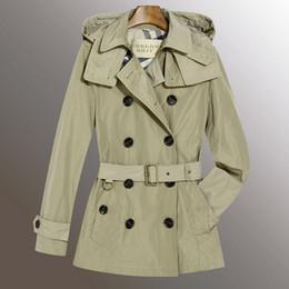 Argentina Jinmei Nuevo diseño! Moda mujer Inglaterra largo estilo invierno gabardina / marca diseñador pequeño cheque slim fit trinchera para mujeres talla S-XXL cheap xxl long trench coat Suministro