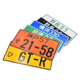 Универсальный гоночный автомобиль онлайн-Новый гоночный Японский стиль номерного знака JDM стиль алюминиевый номер лицензии для универсального автомобиля