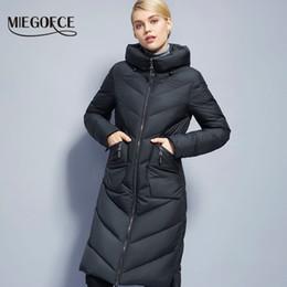 Wholesale Brand Bio - Wholesale- Long Winter Women's Jacket Coat Thickening windproof Women's Parkas Fashion Women Bio-Down Jacket Parkas Brand MIEGOFCE New 2017