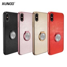 Wholesale Magnetic Hard - Xundd Luxury Case For iphone X 7 8 plus with Ring Holder Hard PC Matte Back Cover for iphone8 7plus X case capa fit with magnetic car holder