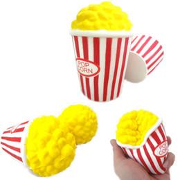 Wholesale Popcorn Slow Rising Bouffi Riz Squishies Jouet Simulation Parfum Parfum Relax Jumbo Décor Cadeau Pour Enfants Squishy Livraison Gratuite SQU006